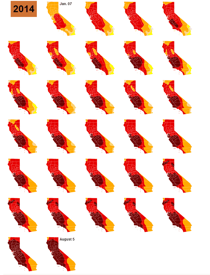 These Maps Which Show Just How Dire the Drought in California Has Become