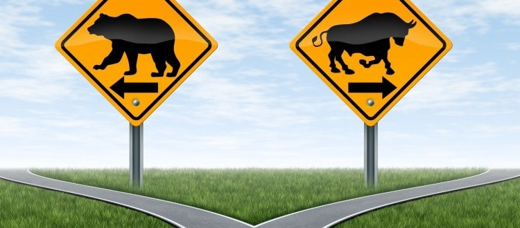 http://www.dreamstime.com/royalty-free-stock-image-stock-market-crossroads-bull-bear-signs-image25073006