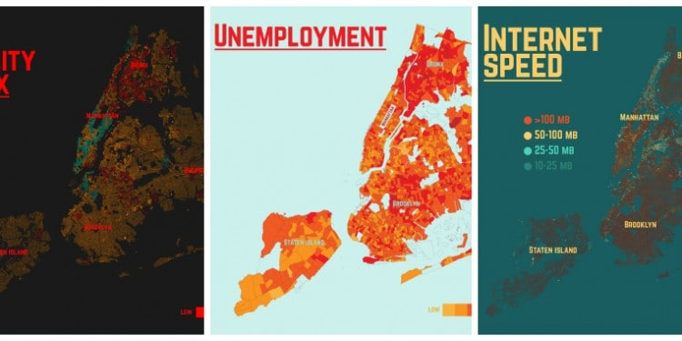 New York by the Numbers Place I Live Visualisation