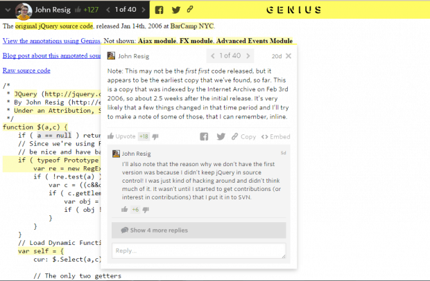 Genius JQuery Annotate the Web